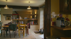 Inside a French rustic cottage - dolly Stock Footage