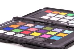 color checker equipment - stock photo