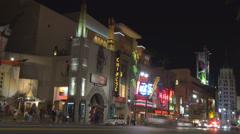 Timelapse traffic street downtown LA Los Angeles boulevard car pass night USA US Stock Footage