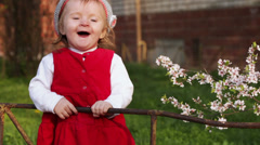 Stock Video Footage of Child near fence