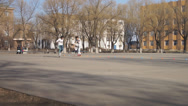 Stock Video Footage of Heihexueyuan Students Riding Rollers 02