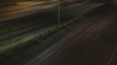 Timelapse USA car traffic street commuter travel highway freeway traveler USA LA Stock Footage