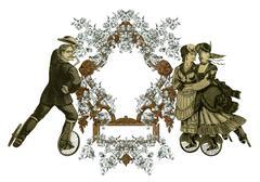 Old frame Stock Illustration