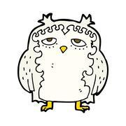 Stock Illustration of cartoon wise old owl