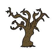 Stock Illustration of cartoon winter tree