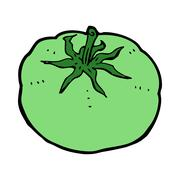 Stock Illustration of cartoon green tomato
