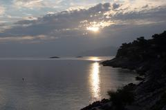 Early morning on Adriatic Sea - stock photo