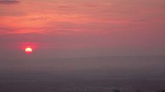 Smog over the city of novokuznetsk, russia - timelapse Stock Footage