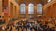 Crowd of people at Grand Central Station, New York City Stock Footage