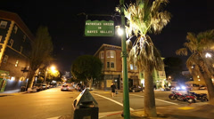 3 angles - Hayes Valley is a fashionable neighborhood in San Francisco Stock Footage