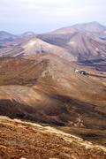 Stock Photo of from the top in lanzarote spain africa  house
