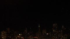 Rare- shooting star on san Francisco skyline Stock Footage
