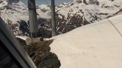 Cable Car tours at Ski Paradise Matterhorn Stock Footage