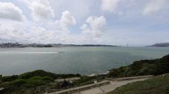 View of san Francisco from Alcatraz Stock Footage