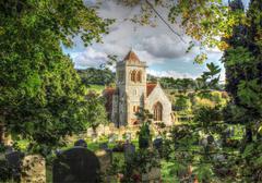 Old English Church Stock Photos
