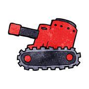 Cartooon army tank Stock Illustration