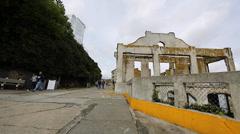 2 angles Alcatraz - social house Stock Footage