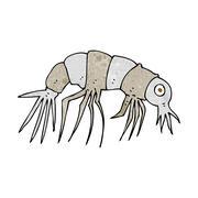 Stock Illustration of cartoon shrimp
