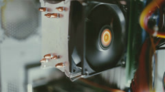 Inside the system unit Stock Footage