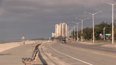 Beach boulevard in Biloxi Mississippi - stock footage