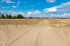 Path in sands Stock Photos