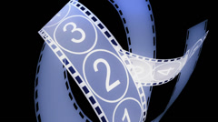 Movie Film footage with digital numbers.abstract multimedia videography. Stock Footage