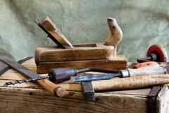 old tools - stock photo