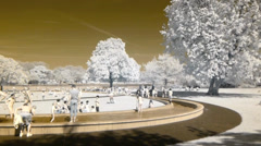 Princess Diana Memorial Park Stock Footage
