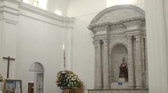 Interior of Catedral de Latacunga, Ecuador Stock Footage