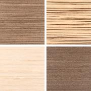 Set of four wooden texture backgrounds - stock photo