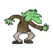 Cartoon goblin Stock Illustration