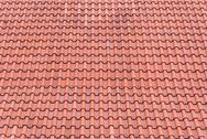 Stock Photo of red tiles roof background