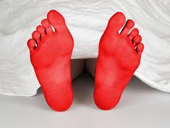 Body under sheet Stock Illustration