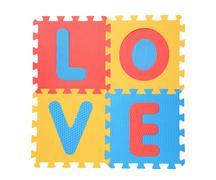 'love' written with alphabet puzzle Stock Photos