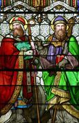 Saint Quirinus of Sescia and Blessed Agostino Gasotti Stock Photos