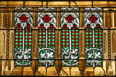 Stained glass in Zagreb cathedral Stock Photos