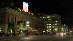 Downtown Salt Lake City timelapse 2 Stock Footage