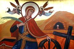 Saint Catherine of Alexandria Stock Photos