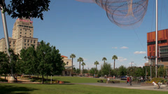 Civic Space Park in Downtown Phoenix. Arizona, USA. Stock Footage