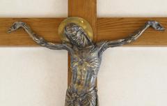 Jesus crucified on the cross - stock photo