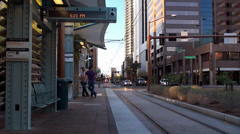 Phoenix light rail in downtown. Arizona, USA. Stock Footage