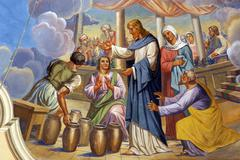 Marriage at Cana or Wedding at Cana - stock photo