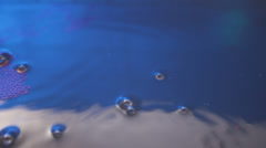 Closeup of Water babels Stock Footage