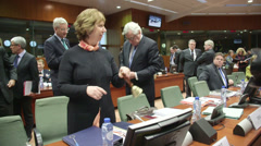 EU summit opening bell - stock footage
