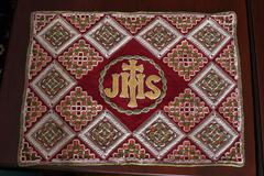 Embroidered Church vestments Stock Photos