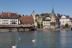 Lucerne old town Stock Photos