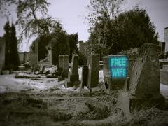 Ilmainen WiFi hautausmaa Piirros