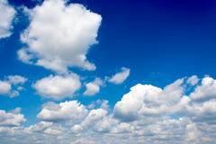 idylic cloudscape - stock photo
