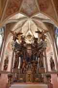 Altar in the Church of the Virgin Mary - Taborsko, Croatia - stock photo