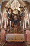 Altar in the Church of the Virgin Mary - Taborsko, Croatia Stock Photos